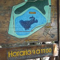 Mapa de la reserva.