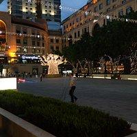 area with restaurants
