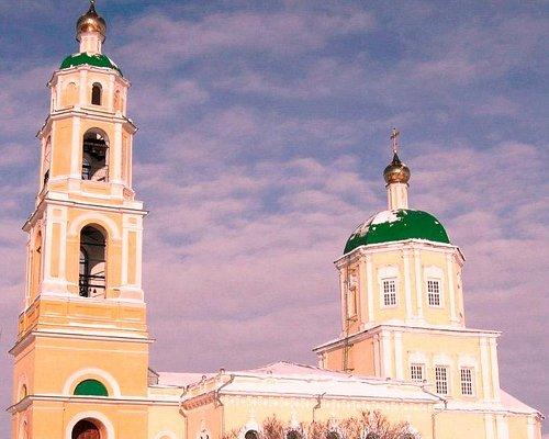 Зимний вид храма Святителя Николая в Домодедово