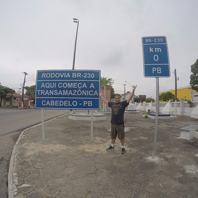 Marco zero da estrada Transamazônica.