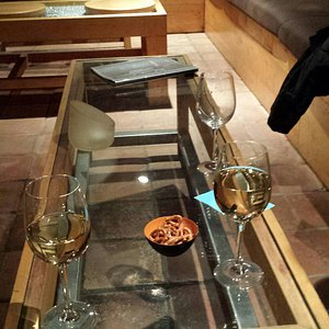 A great place to meet.  It is a intimate wine bar with outstanding architectural features conven