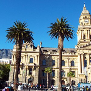 Cape Town City Hall with Table Mountain in the Background