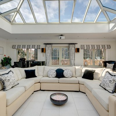The Light-Filled Orangery, no matter the weather!