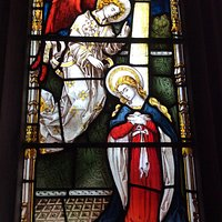 Annunciation from Lady Chapel window