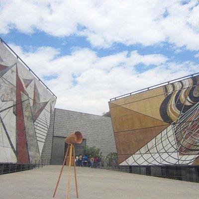 De toegang tot het museum Siquieros
