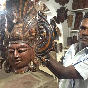 Ranjith with one of his 500 masks!