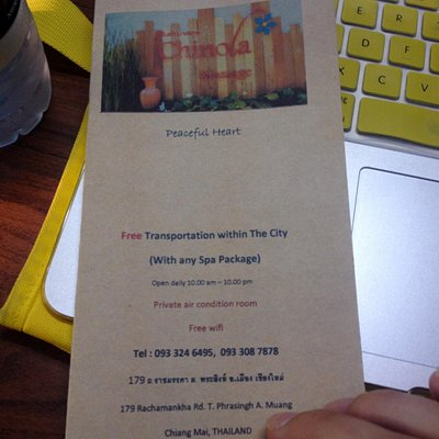 Contact details for spa