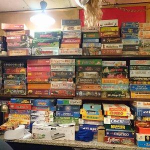 alcuni dei giochi presenti in ludoteca