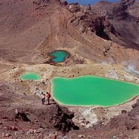 The world famous Emerald Lakes.
