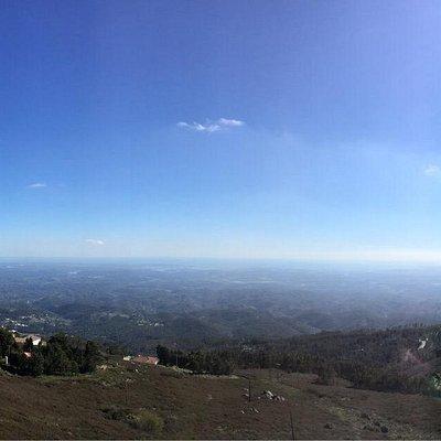 Hazy view towards Alvor/Portimao from the top of Monchique