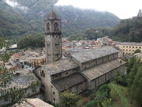 chiesa di San Costanzo vista dall'alto della torre Fernanda