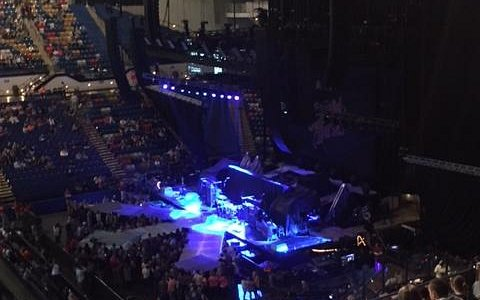 Stage view from section 206 row V