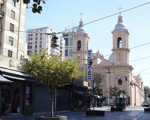 Vista Peatonal e Iglesia Santo Domingo