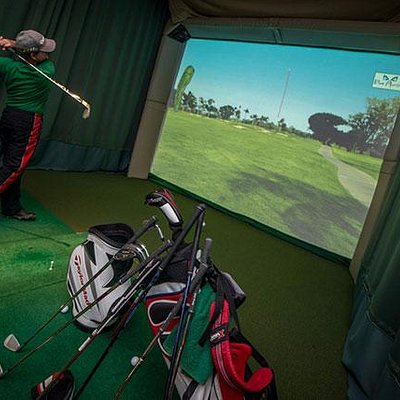 This is one of the many golf simulators.