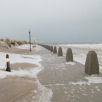 winter season at the beach
