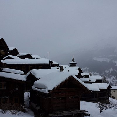 View of the old town in Grimentz