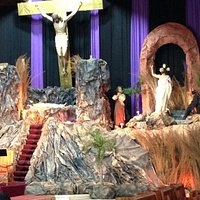 A portion of the elaborate Lenten tableau.