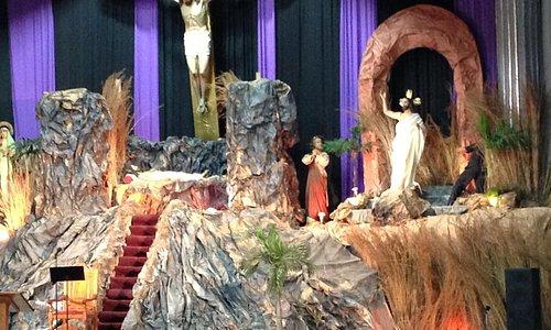 A portion of the elaborate Lenten tableau.