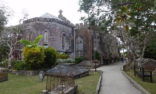 The church from the graveyard.
