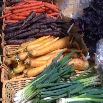 Some of the produce that was available in February.