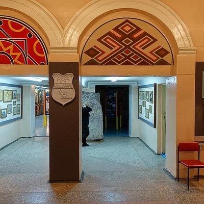 Одна из комнат музея истории саамов в Ловозере.