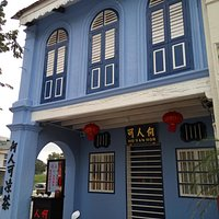 The iconic blue building along Jalan Bijeh Timah