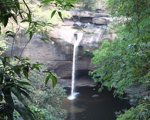 khao yai national park waterfall in the month of feb16,