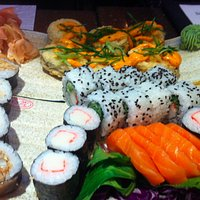A beautiful plate of sushi!