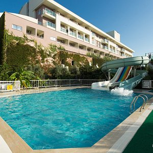 The Pool with Waterslides at the Hotel Titan Select