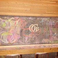 chalk board at Old Colorado Brewing Co
