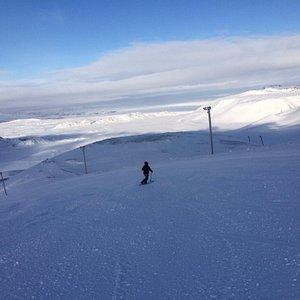 Nice views on the ski down!