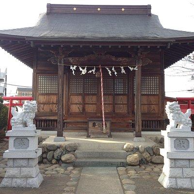 東向きの社殿