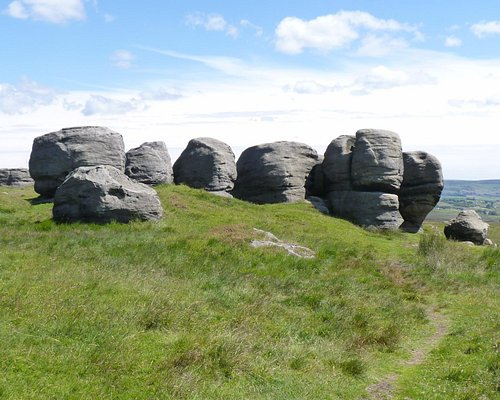 The wierd and charismatic  gritstone outcrops of the Bride Stones