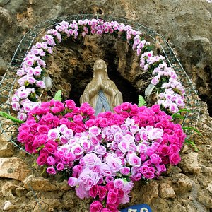 The Lourdes Grotto - Statue of the Virgin Mary