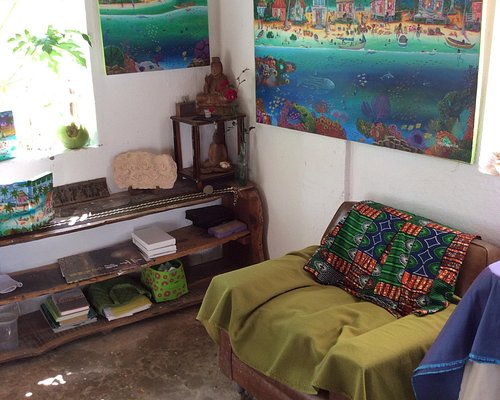 Work shop among tropical garden