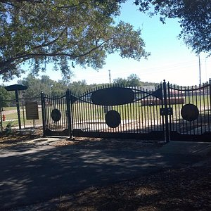 Beautiful Iron Gate to Letty Towles Dog Park.