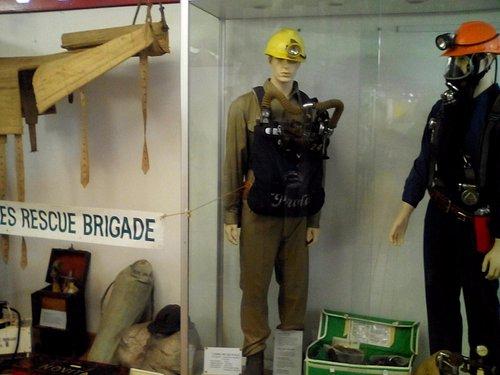 Mine rescue equipment.