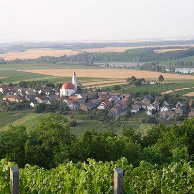 Palkonya panoramic view from the wine hills