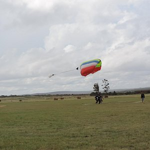 landing after a 5 minute parachute