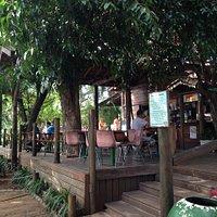 Vista do quiosque da praça do Coco.