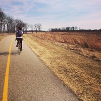 Biking near the wetland prairie