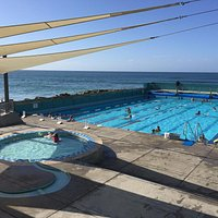 St Clair Hot Salt Water Pool on a beautiful February morning