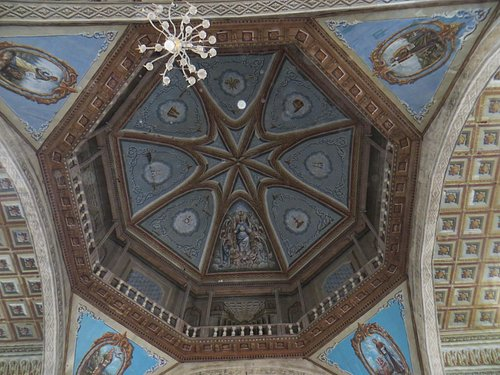 Church dome intricately painted