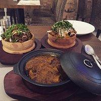 African banga soup and Isiewi and nkwobi