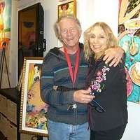 Russ the artist and me!