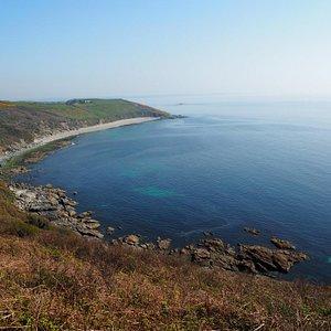 Vault beach from Dodman point.