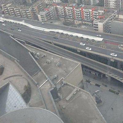 Chengdu BRT station from above
