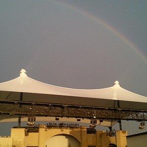 Rainbow over the theater