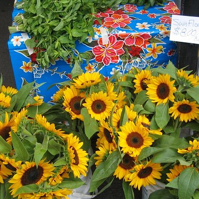 Bouquets and fresh herbs for sale