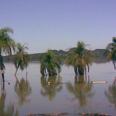 Playa inundada